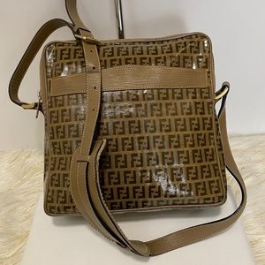 FENDI  Zucca Pattern Brown Shoulder  Bag